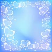 Valentijn kaart met hart. — Stockvector