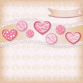 Congratulation card with hearts.  — Stock Vector