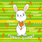 Cute bunny on the colorfull background. — Stock Vector