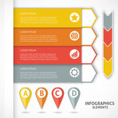 Collection infographics elements. Colorful arrows. — Stock Vector