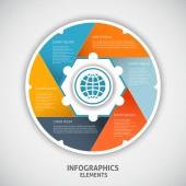 Infographics circle style. — ストックベクタ