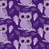 Cute owl on the colorfull background. — Stock Vector