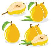 Yellow pears — Stock Vector