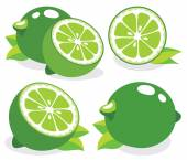 Fresh limes — Stock Vector