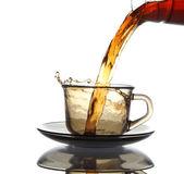 Tea is poured — Stock Photo
