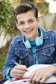 Smiling teen student — Foto Stock