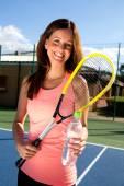 Fille de tennis — Photo