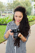 Camera girl — Stock Photo