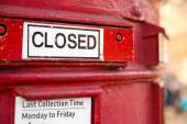 Closed letterbox — Stock Photo
