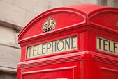 Telephone box — Stock Photo