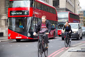Cycling in London — Stock Photo