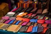 Wallets at a market — Stock Photo