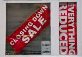 Closing down sale — Stock Photo