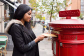 Posting letters — Stock Photo