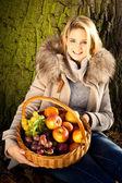 Podzimní dívka — Stock fotografie