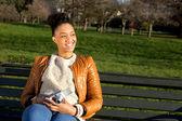 Κορίτσι στο πάρκο — Stockfoto