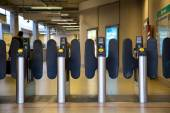Oyster card gates — Stock Photo