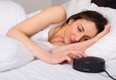 Woman in bed — Stock Photo
