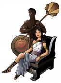 Ancient Greek queen — Stock Vector