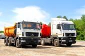 Maz vrachtwagens — Stockfoto