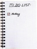Notizblock mit einer aufgabenliste — Stockfoto
