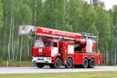 KAMAZ fire ladder — Stock Photo