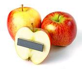 Elektroniska äpplen — Stockfoto