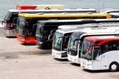 Interurban coaches — Stock Photo