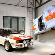 Постер, плакат: Audi Quattro and Colani GT