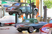Workshop of the museum of vintage cars Classic Remise — 图库照片