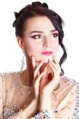 Young attractive woman with an evening makeup — Stock fotografie