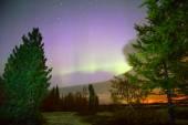 Northern lights (Aurora Borealis) — Stock Photo