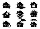 Property insurance icons set — Stock Vector