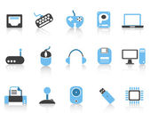 Computer and Devices icons — Stock Vector