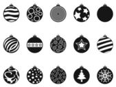 Christmas bauble icons set — Stock Vector
