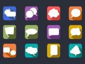 Speech bubbles flat icons — Stock Vector