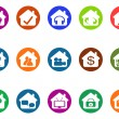 House real estate buttons icons set — Stock Vector #66391963