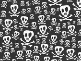 Skulls and bones background — Stock Vector