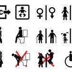 Bathroom and wc symbols — Stock Vector #69404271