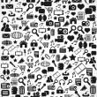 Seamless web icons pattern — Stock Vector #71009269