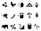 Commodities trading market icons set — Stock Vector