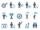 Business metaphor icons — Stock Vector