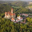 Aerial view of well preserved gothic castle Bouzov — Stock Photo #52911863