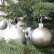 Decorated christmas tree branch — Stock Photo #59110731