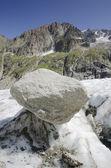 山と氷河のアルプスの風景 — ストック写真