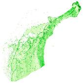 Green liquid splash — Stock Photo