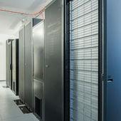 Sala do servidor de rede — Fotografia Stock