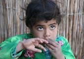 Arabic, bedouin child in Egypt — Stock Photo