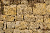 Solid wall made of stone  — Stock Photo