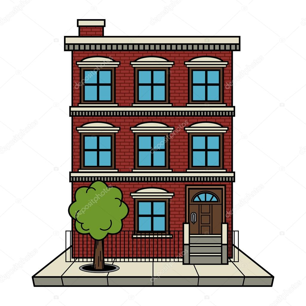Apartment building vector stock vector briangoff for Apartment floor plans vector